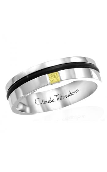 Claude Thibaudeau Black Hevea Men's Wedding Band PLT-1664-H product image