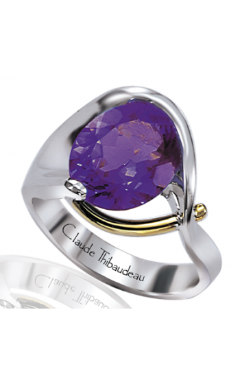Claude Thibaudeau Colored Stone Engagement Ring PLT-1127 product image