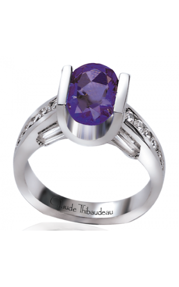 Claude Thibaudeau Colored Stone Engagement ring PLT-1085 product image