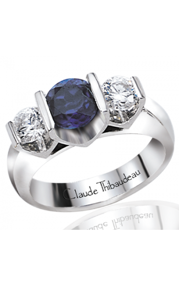 Claude Thibaudeau Colored Stone Engagement ring PLT-1302 product image