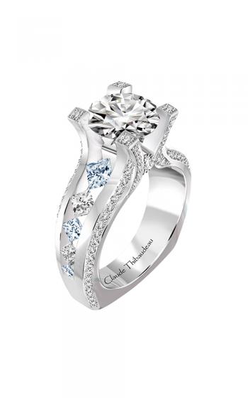 Claude Thibaudeau La Royale Engagement Ring PLT-10193-MP-SE product image
