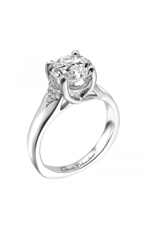 Claude Thibaudeau European Micro-Pave Engagement ring PLT-1869-MP product image