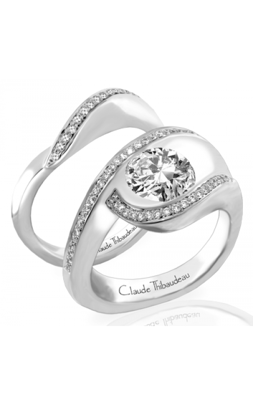 Claude Thibaudeau European Micro-Pave Engagement Ring PLT-163-MP product image