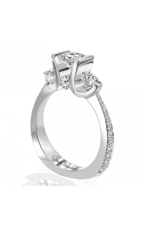 Claude Thibaudeau European Micro-Pave Engagement Ring PLT-1644-MP product image