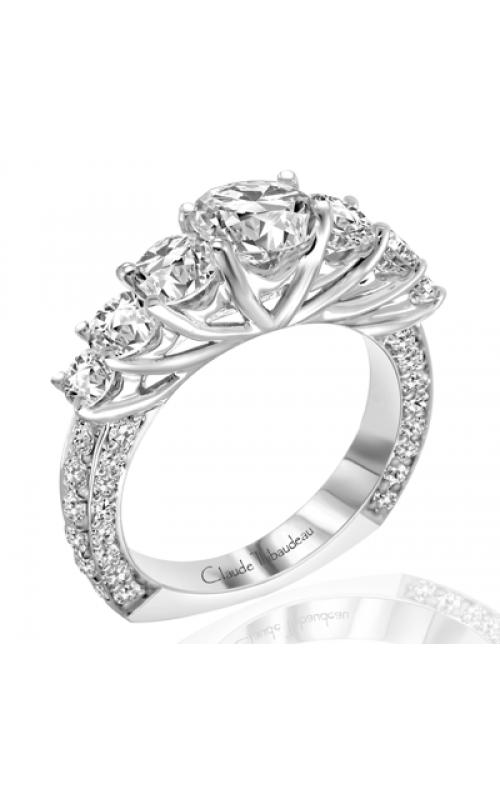 Claude Thibaudeau European Micro-Pave Engagement ring PLT-1763-MP product image