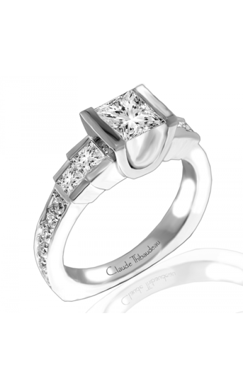 Claude Thibaudeau European Micro-Pave Engagement ring PLT-1769-MP product image