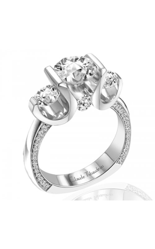 Claude Thibaudeau European Micro-Pave Engagement ring PLT-1790-MP product image