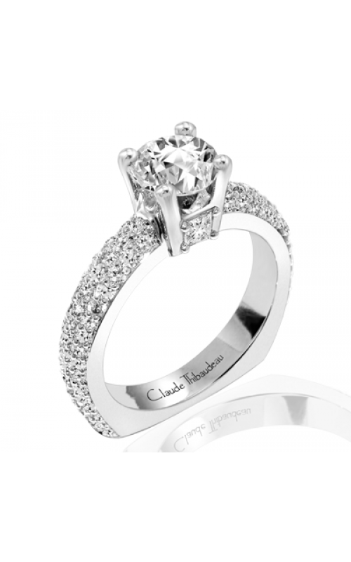Claude Thibaudeau European Micro-Pave Engagement Ring PLT-1791-MP product image