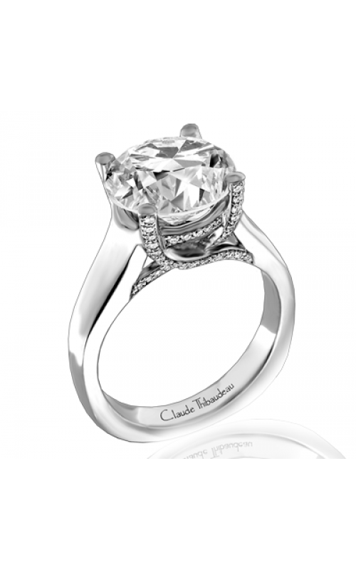 Claude Thibaudeau European Micro-Pave Engagement Ring PLT-1817-MP product image