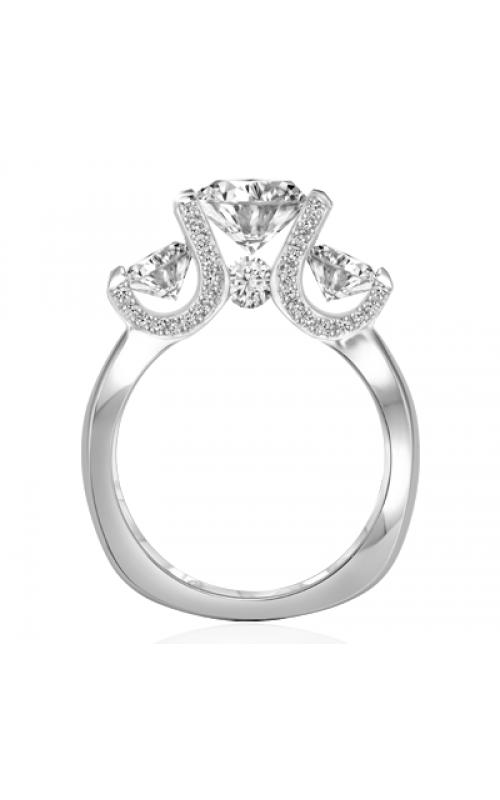 Claude Thibaudeau European Micro-Pave Engagement Ring PLT-1835-MP product image