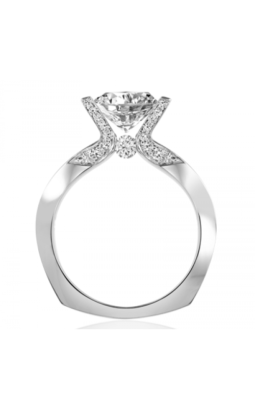 Claude Thibaudeau European Micro-Pave Engagement ring PLT-1840-MP product image
