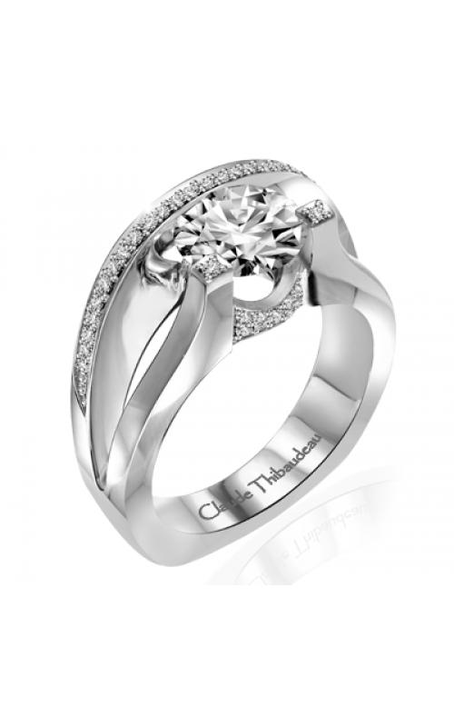 Claude Thibaudeau European Micro-Pave Engagement ring PLT-1850-MP product image