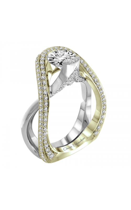 Claude Thibaudeau Avant-Garde Engagement Ring PLT-1976V-MP product image