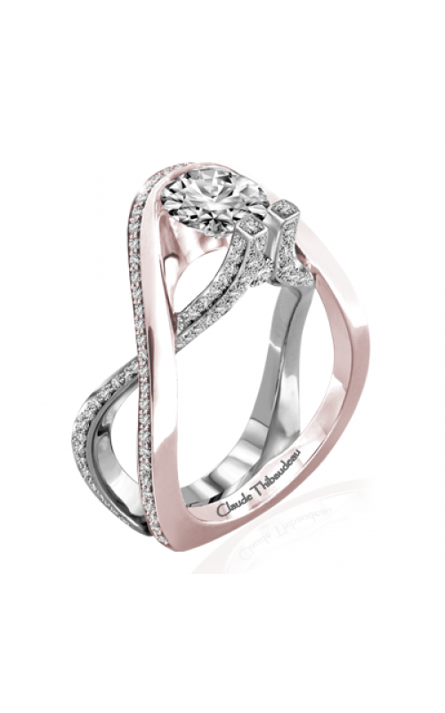 Claude Thibaudeau Avant-Garde Engagement ring PLT-10017R-MP product image