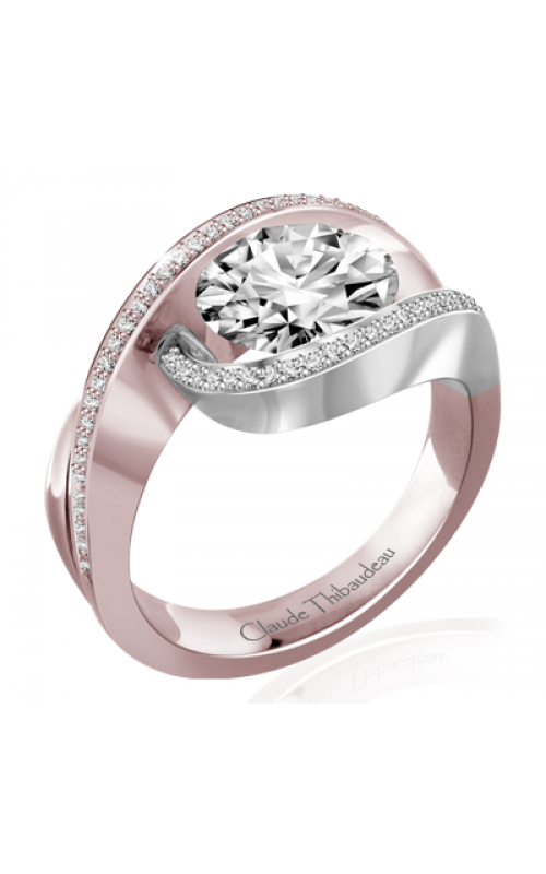 Claude Thibaudeau Avant-Garde Engagement Ring PLT-7388W-MP product image