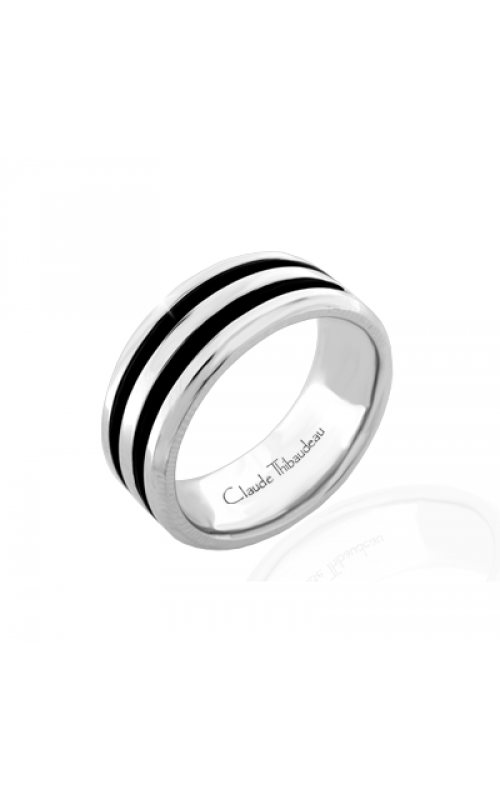 Claude Thibaudeau Black Hevea Women's Wedding Band PLT-1657-F product image