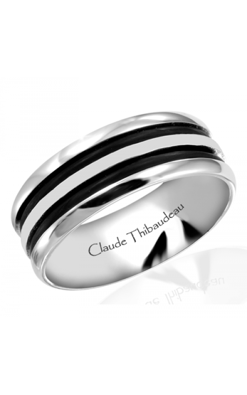 Claude Thibaudeau Black Hevea Men's Wedding Band PLT-1570-H product image