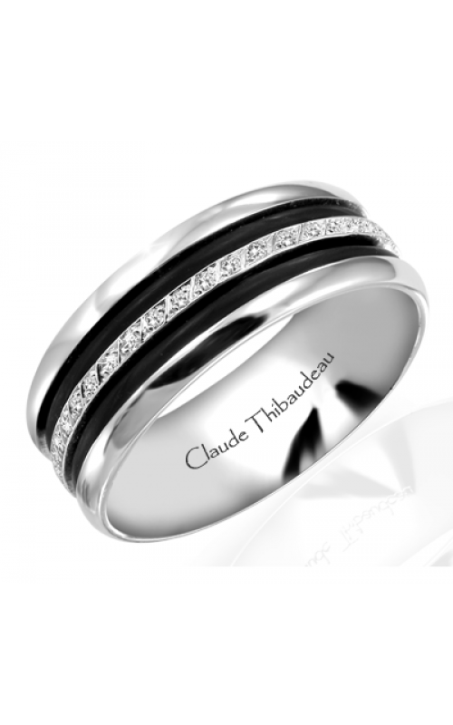 Claude Thibaudeau Black Hevea Men's Wedding Band PLT-1566-H product image