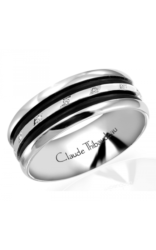 Claude Thibaudeau Black Hevea Men's Wedding Band PLT-1584-H product image