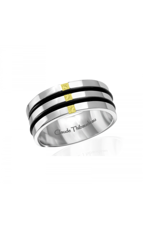 Claude Thibaudeau Black Hevea Women's Wedding Band PLT-1663-F product image