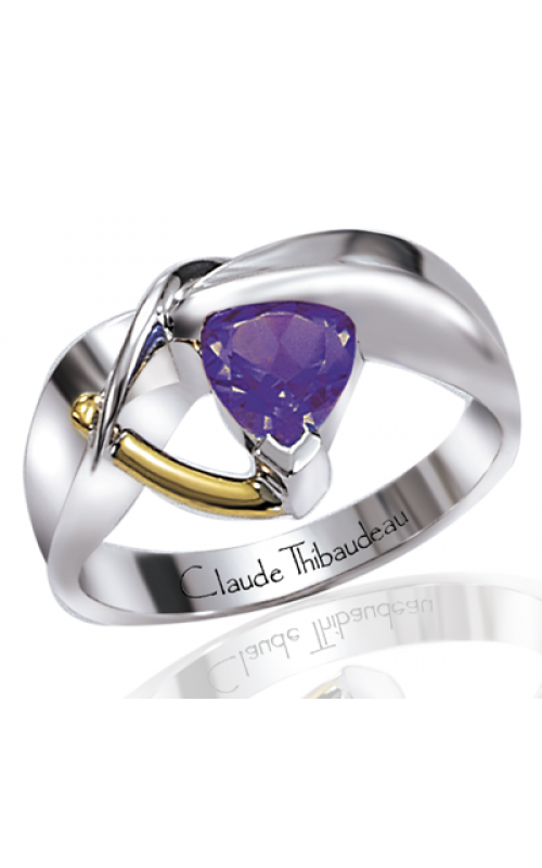 Claude Thibaudeau Colored Stone Engagement ring PLT-1209 product image
