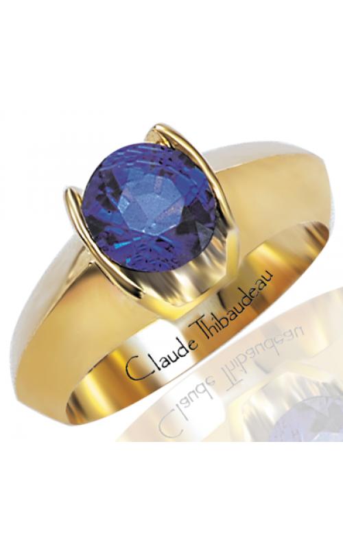 Claude Thibaudeau Colored Stone Engagement Ring PLT-200 product image