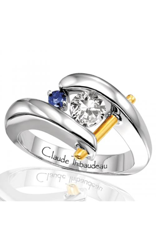 Claude Thibaudeau Colored Stone Engagement ring PLT-116 product image