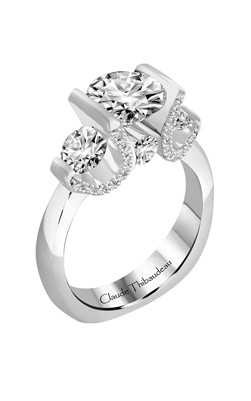 Claude Thibaudeau La Trinite Engagement Ring PLT-1836-MP product image