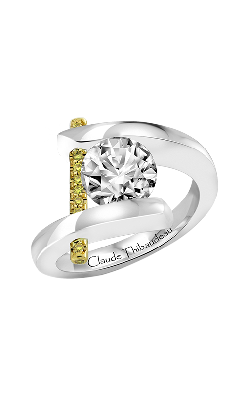 Claude Thibaudeau Just Released Engagement Ring PLT-165Y-MP-BYD product image