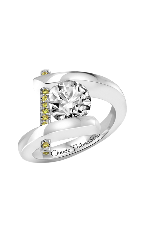 Claude Thibaudeau Just Released Engagement ring PLT-165-MP-BYD product image