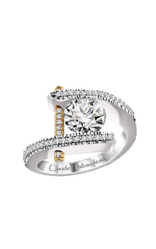 Claude Thibaudeau Just Released Engagement ring PLT-1837Y-MPX product image