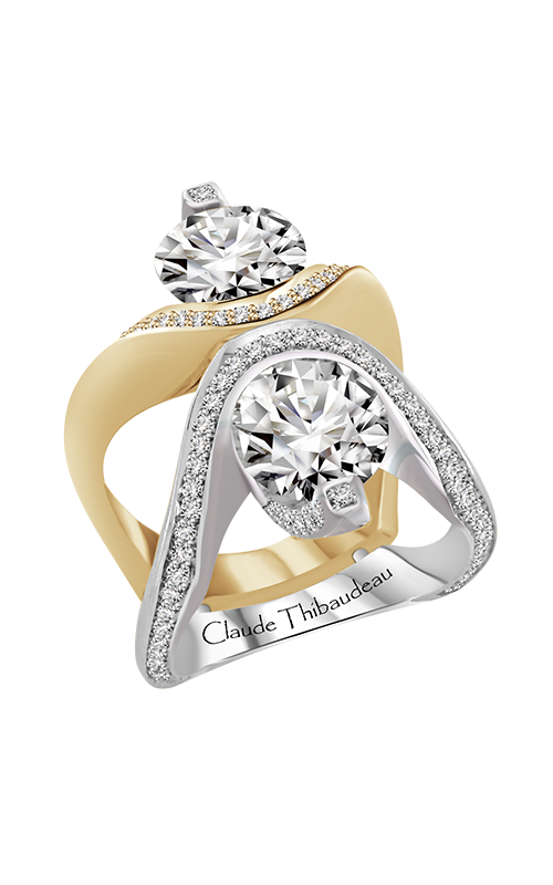 Claude Thibaudeau Just Released Engagement Ring PLT-10172Y-MP product image