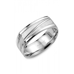 CrownRing Classic and Carved Wedding band WB-7909 product image