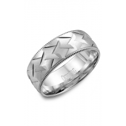 CrownRing Classic and Carved Wedding band WB-7912 product image