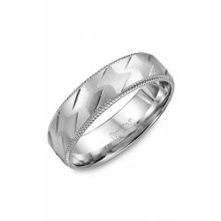 CrownRing Classic and Carved Wedding band WB-7913 product image