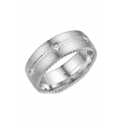 CrownRing Rope Wedding band WB-001RD8W product image