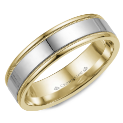 CrownRing Classic And Carved Wedding Band WB-6912 product image