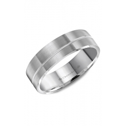CrownRing Classic And Carved Wedding Band WB-8065 product image