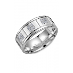 CrownRing Diamond Wedding Band WB-9604W product image