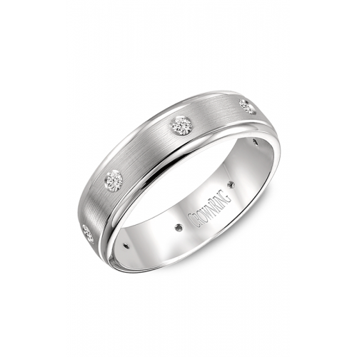 CrownRing Diamond Wedding band WB-7096W product image