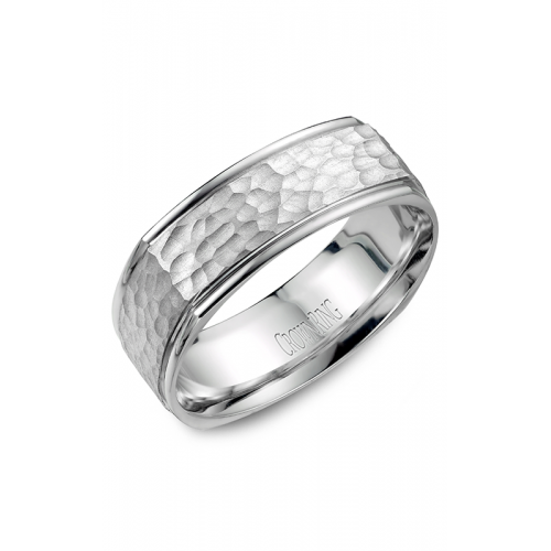CrownRing Classic and Carved Wedding band WB-7908 product image
