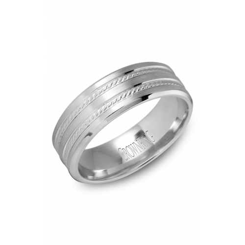 CrownRing Classic and Carved Wedding band WB-9503 product image