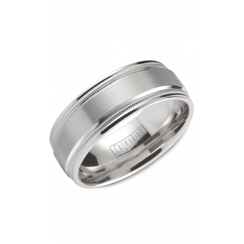 CrownRing Classic and Carved Wedding band WB-9844 product image