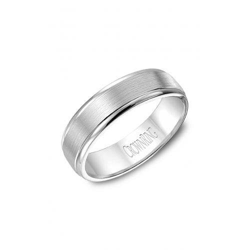 CrownRing Classic and Carved Wedding band WB-7019 product image