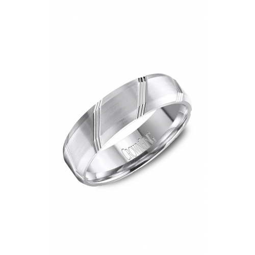 CrownRing Classic and Carved Wedding band WB-8070 product image