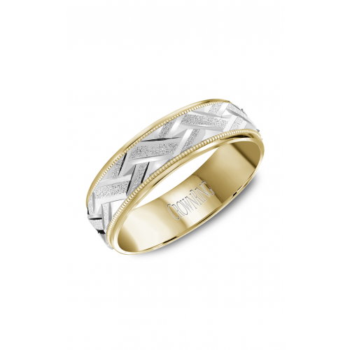 CrownRing Classic and Carved Wedding band WB-8071 product image