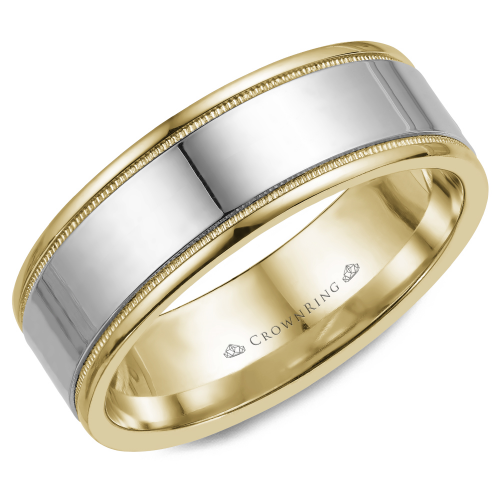 CrownRing Classic and Carved Wedding band WB-6811 product image
