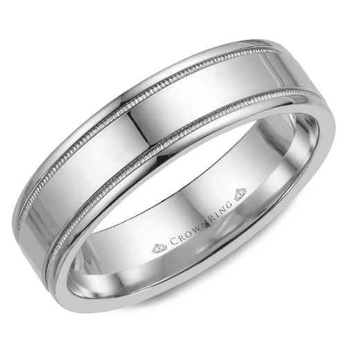 CrownRing Classic and Carved Wedding band WB-6901 product image