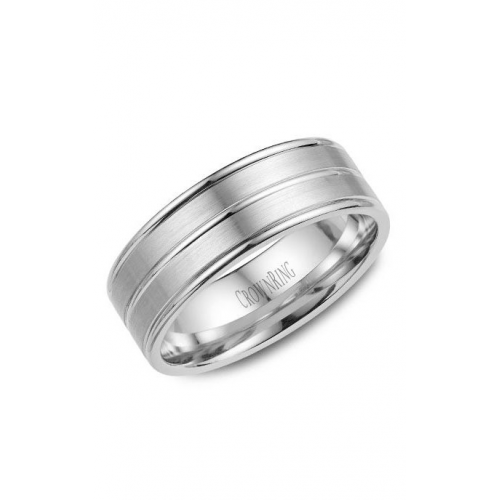 CrownRing Classic and Carved Wedding band WB-9049 product image