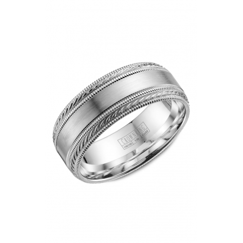 CrownRing Classic and Carved Wedding band WB-034C8W product image